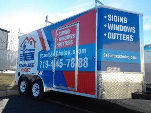 Custom commercial trailer wrap
